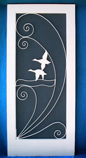 Flying Ducks Screen Door Insert