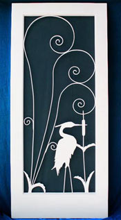 Blue Heron Screen door insert