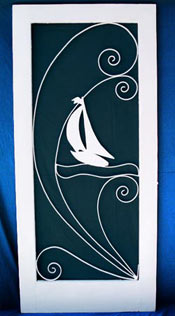 Sailboat Screen Door insert